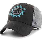 '47 Men's Miami Dolphins Arlo MVP Adjustable Black Hat