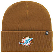 '47 Men's Miami Dolphins Carhartt Brown Knit Hat
