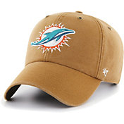'47 Men's Miami Dolphins Carhartt Clean Up Adjustable Brown Hat