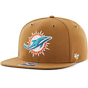 '47 Men's Miami Dolphins Carhartt Captain Adjustable Brown Hat