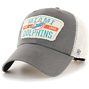 '47 Men's Miami Dolphins Crawford Clean Up Adjustable Grey Hat
