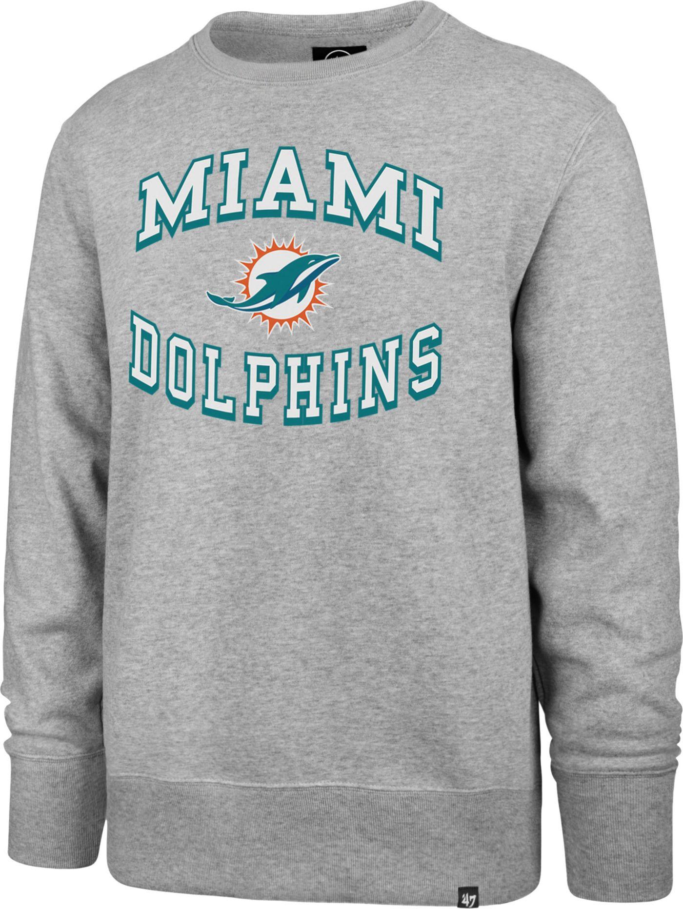 '47 Men's Miami Dolphins Headline Grey Crew