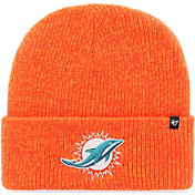 '47 Men's Miami Dolphins Brainfreeze Orange Cuffed Knit