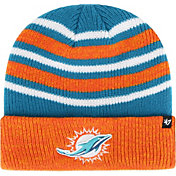 '47 Men's Miami Dolphins Rotation Aqua Cuffed Knit