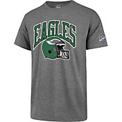 '47 Men's Philadelphia Eagles 100th Club Legacy Grey T-Shirt