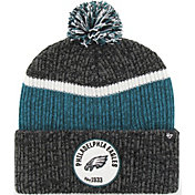 '47 Men's Philadelphia Eagles Holcomb Black Cuffed Pom Knit