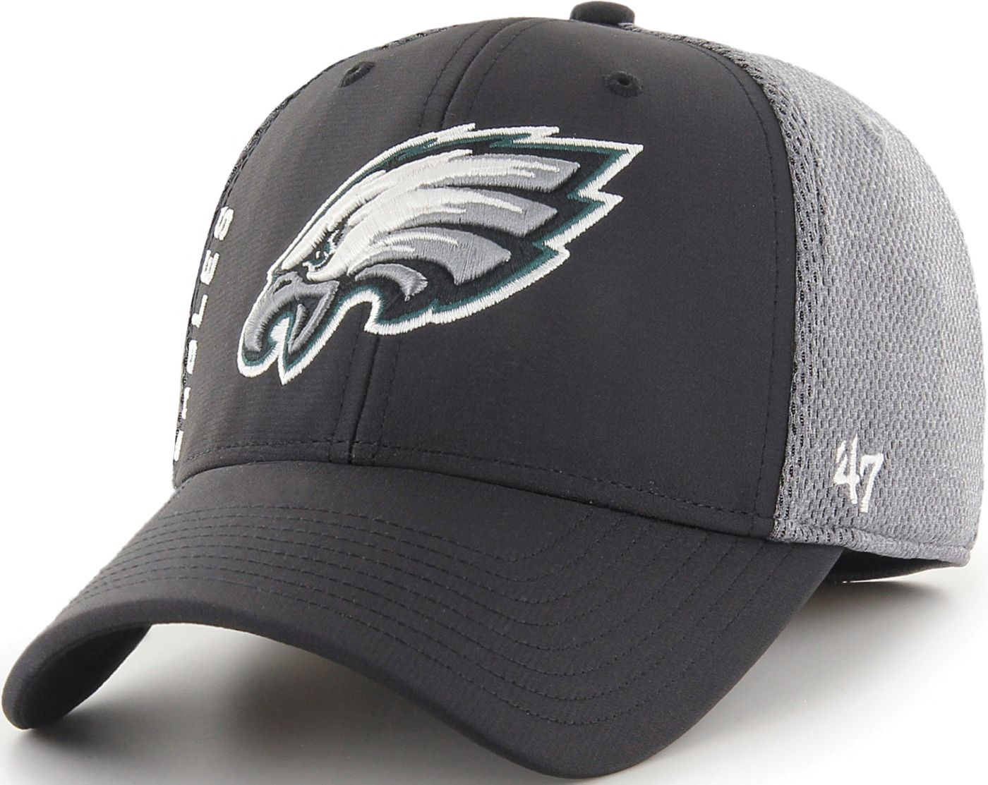 '47 Men's Philadelphia Eagles Wycliff Contender Stretch Fit Black Hat