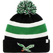 '47 Men's Philadelphia Eagles Breakaway Black Pom Knit