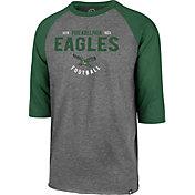 '47 Men's Philadelphia Eagles Club Legacy Grey Raglan Shirt