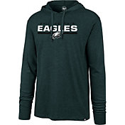 '47 Men's Philadelphia Eagles Club Green Hooded Long Sleeve Shirt