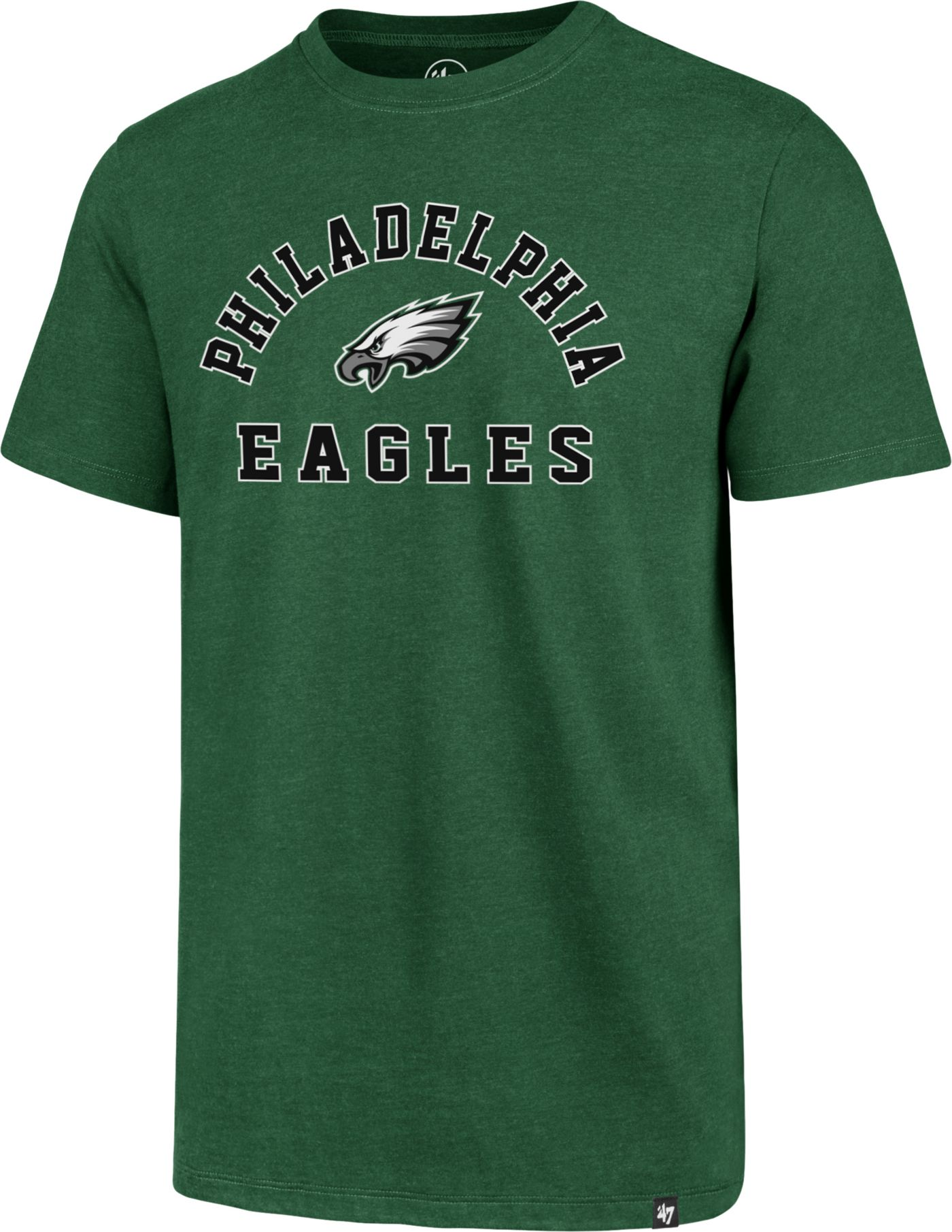 '47 Men's Philadelphia Eagles Club Arch Green T-Shirt