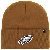 '47 Men's Philadelphia Eagles Carhartt Brown Knit Hat
