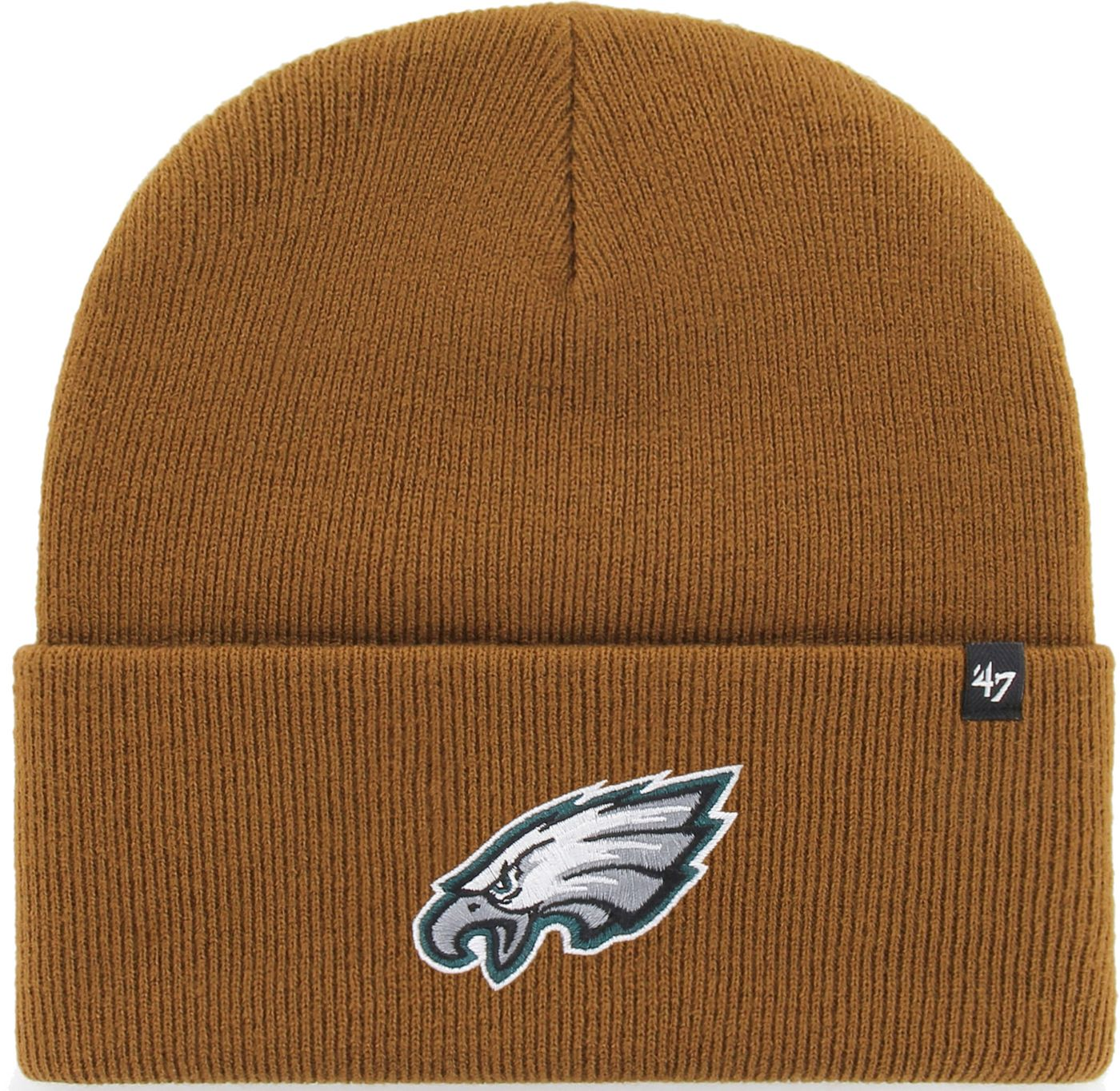 '47 Men's Philadelphia Eagles Carhartt Brown Knit Hat