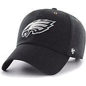 '47 Men's Philadelphia Eagles Carhartt Clean Up Adjustable Black Hat