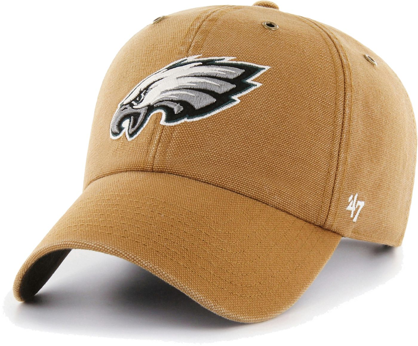 '47 Men's Philadelphia Eagles Carhartt Clean Up Adjustable Brown Hat