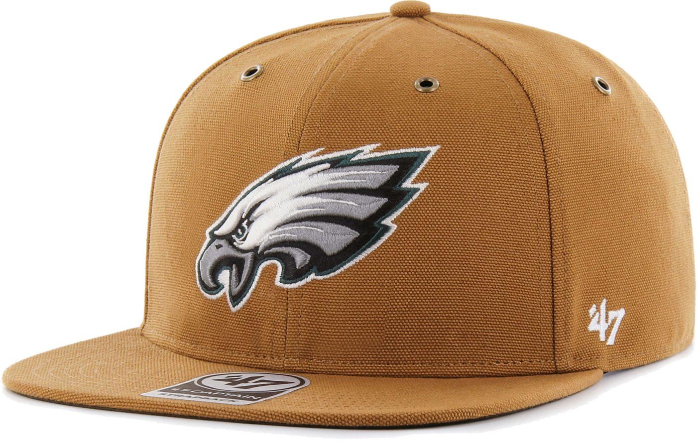 '47 Men's Philadelphia Eagles Carhartt Captain Adjustable Brown Hat