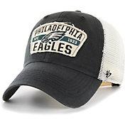 '47 Men's Philadelphia Eagles Crawford Clean Up Adjustable Black Hat