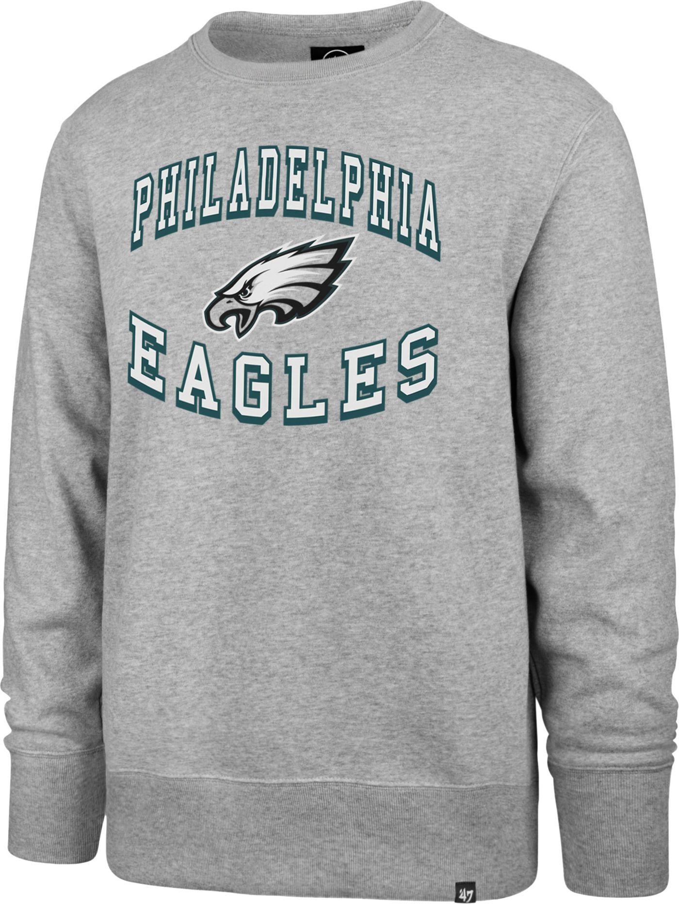 '47 Men's Philadelphia Eagles Headline Grey Crew