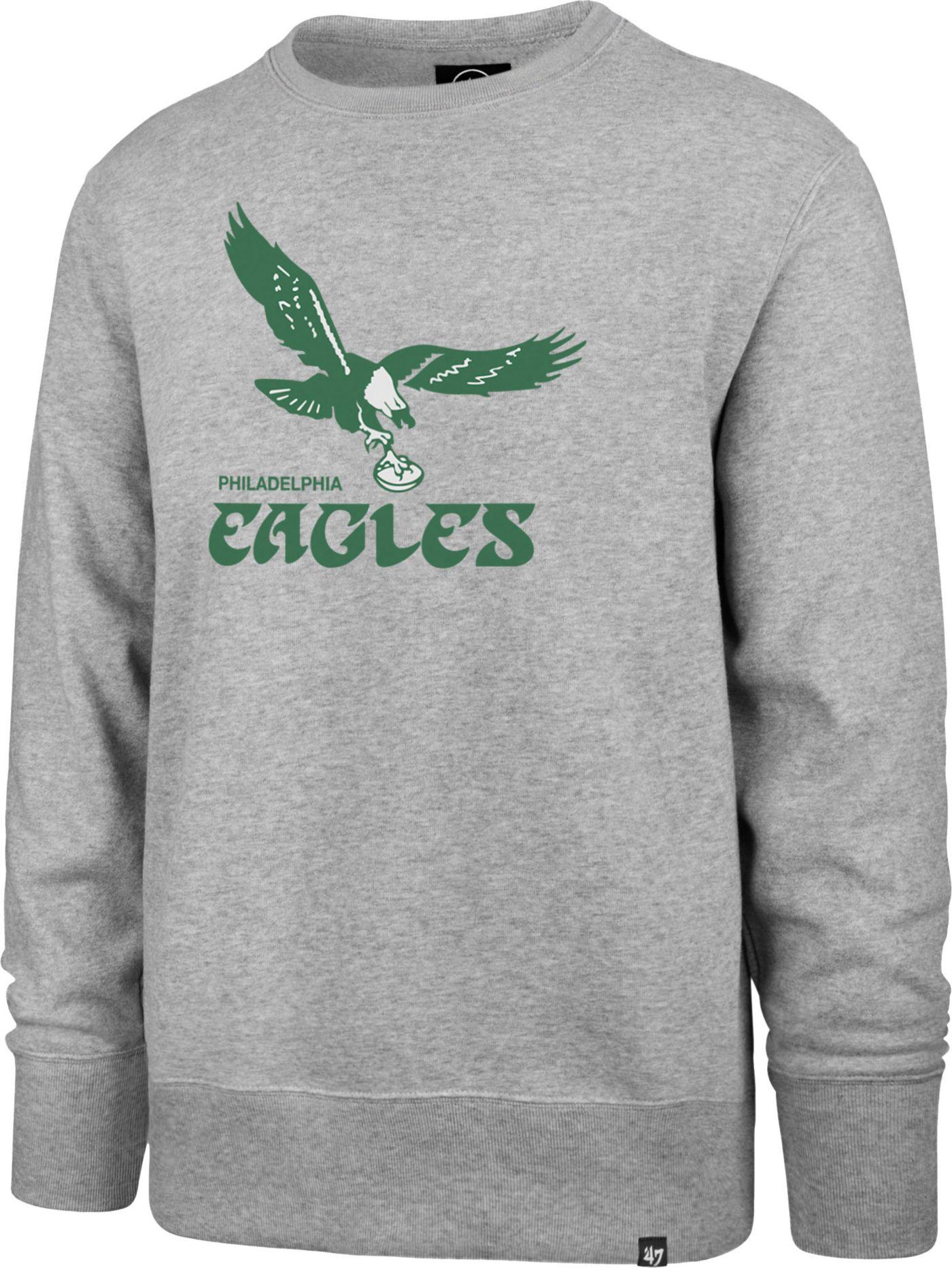 '47 Men's Philadelphia Eagles Legacy Headline Grey Crew Sweatshirt