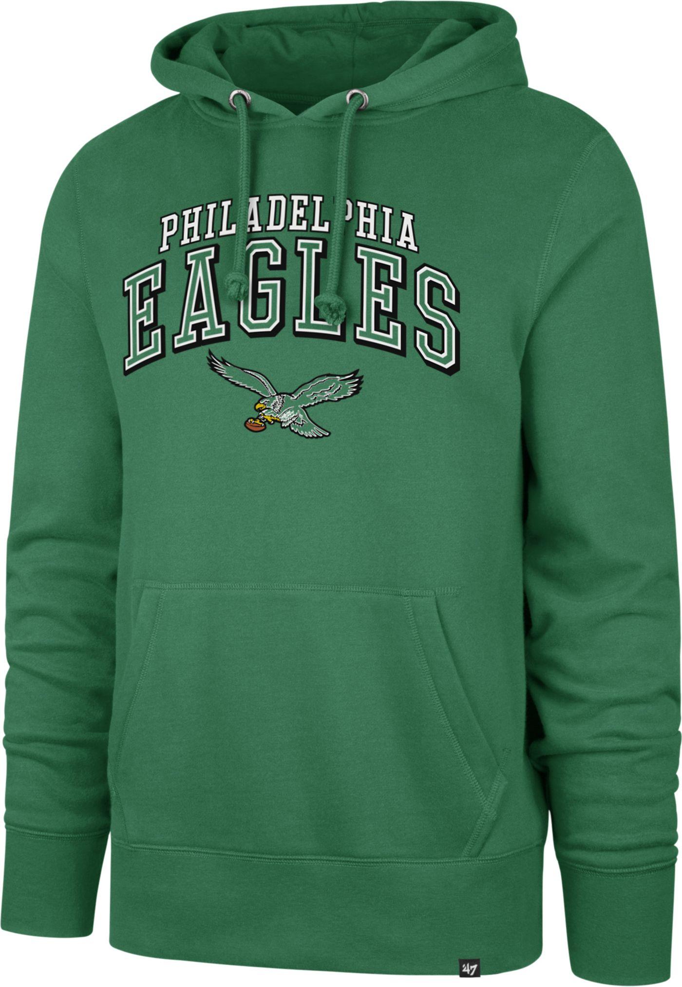 '47 Men's Philadelphia Eagles Legacy Headline Green Hoodie