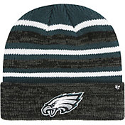 '47 Men's Philadelphia Eagles Rotation Green Cuffed Knit