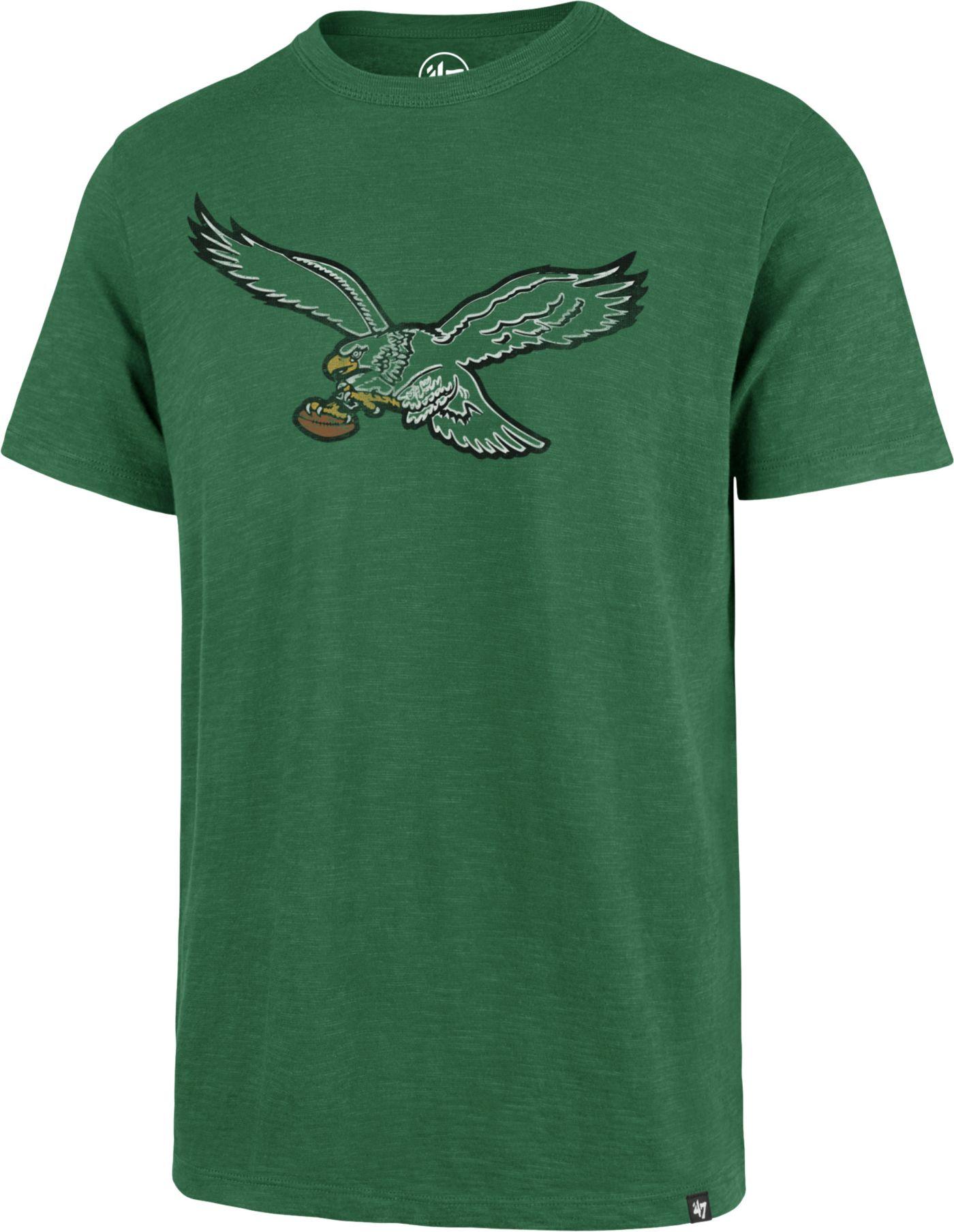 '47 Men's Philadelphia Eagles Scrum Logo Legacy Green T-Shirt