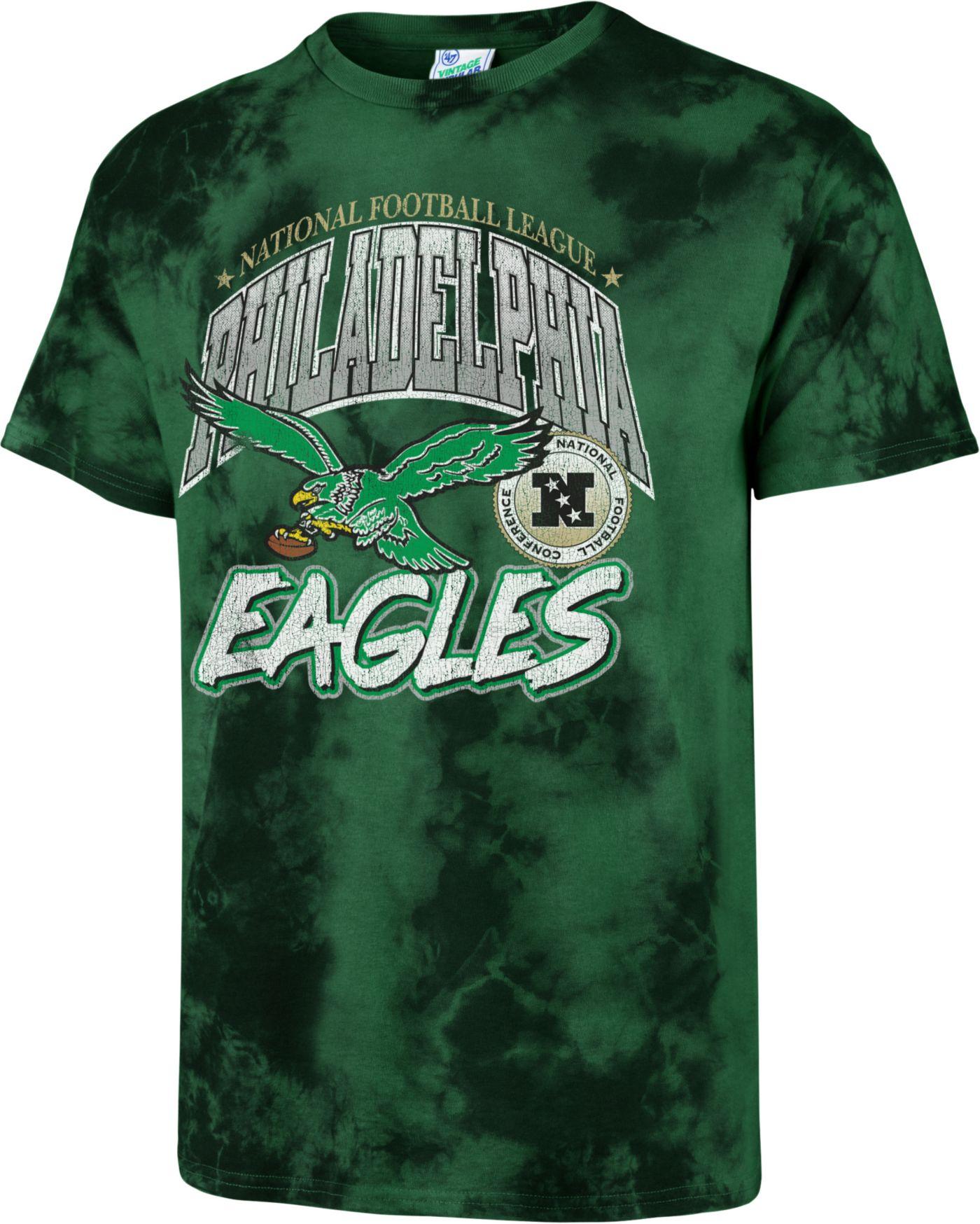 '47 Men's Philadelphia Eagles Tubular Tie Dye T-Shirt