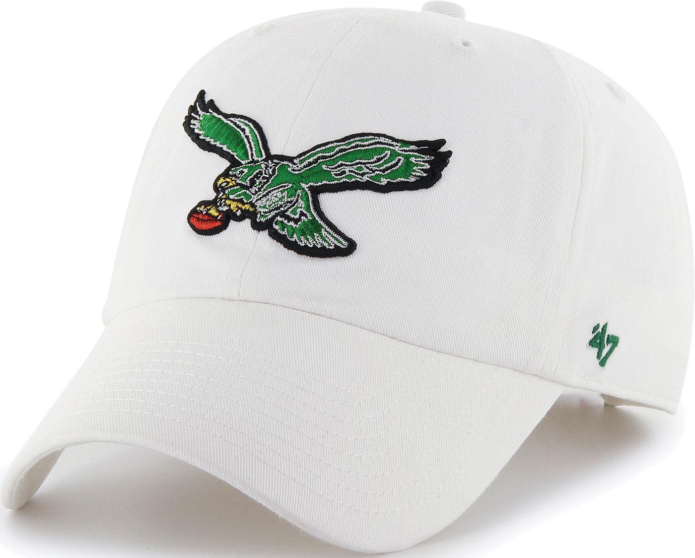 '47 Men's Philadelphia Eagles Legacy Clean Up White Adjustable Hat