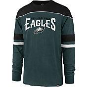 '47 Men's Philadelphia Eagles Win Streak Green Long Sleeve Shirt