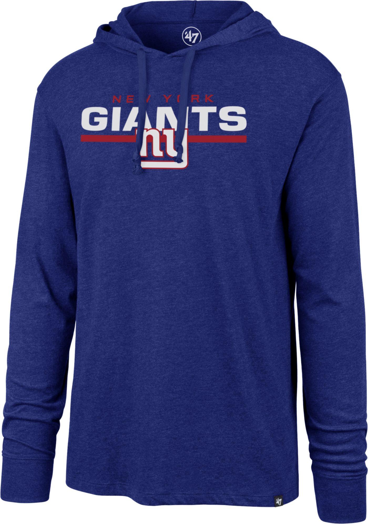 '47 Men's New York Giants Club Royal Hooded Long Sleeve Shirt