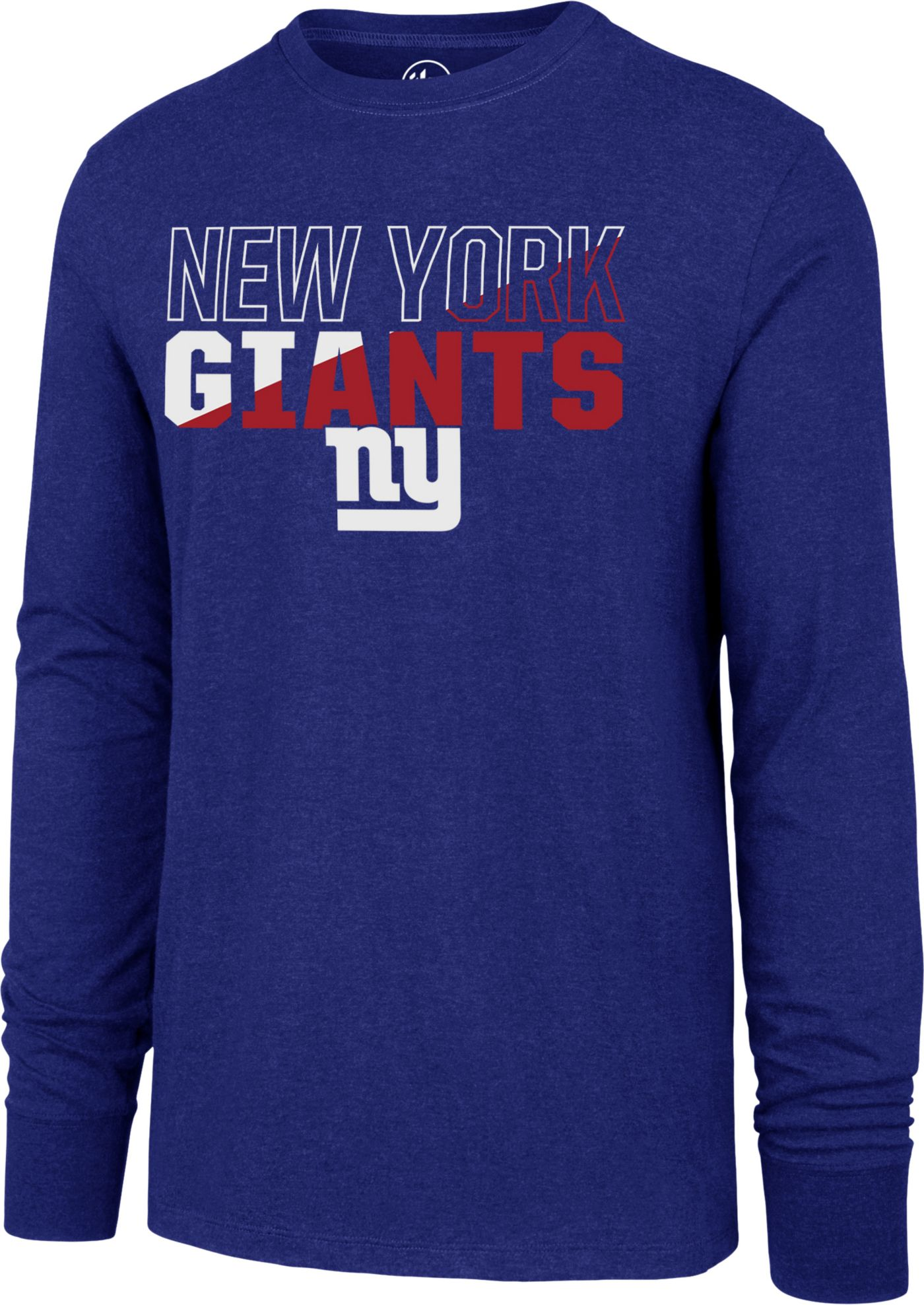 '47 Men's New York Giants Club Long Sleeve Royal Shirt