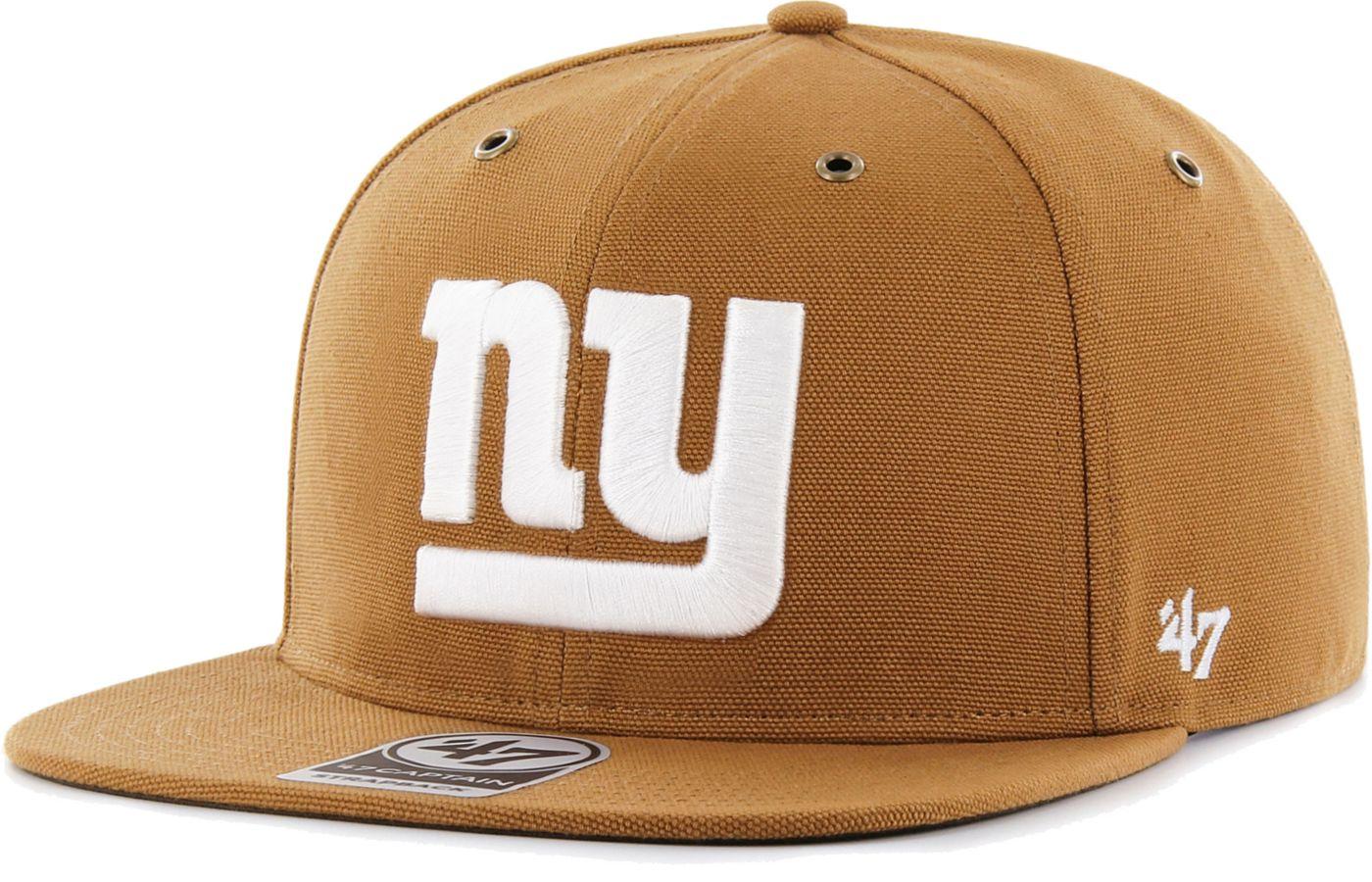 '47 Men's New York Giants Carhartt Captain Adjustable Brown Hat