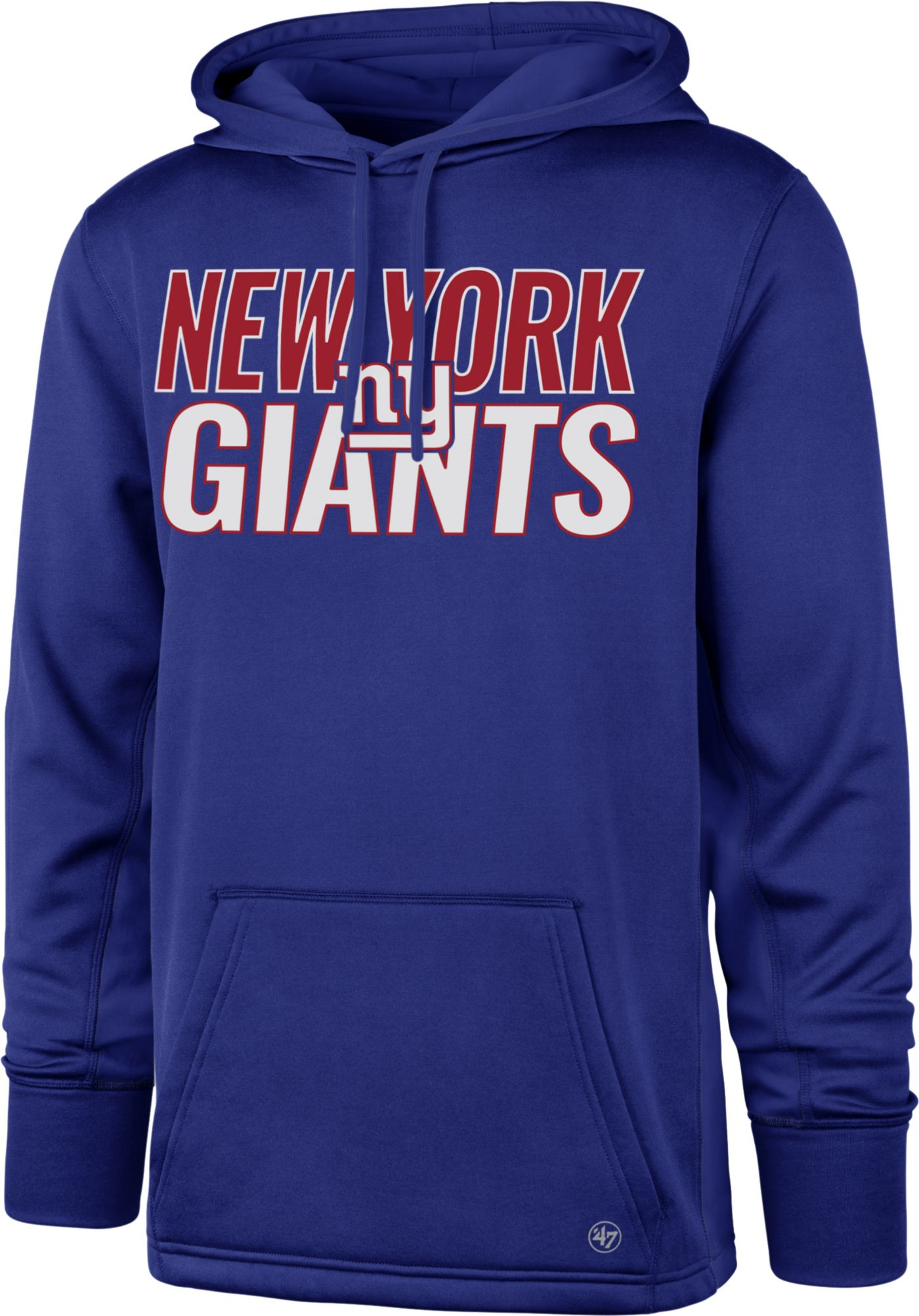 '47 Men's New York Giants Tech Fleece Royal Performance Hoodie
