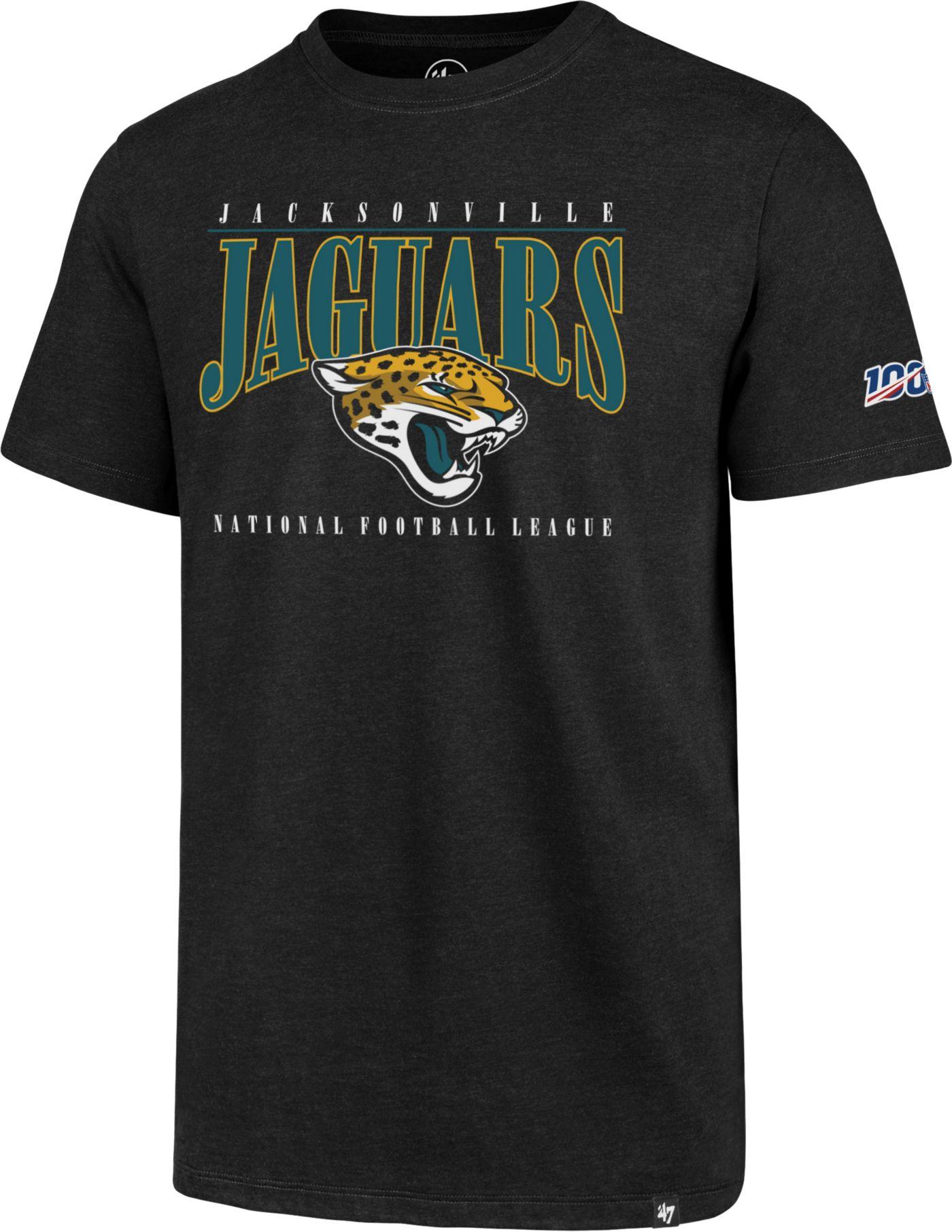 '47 Men's Jacksonville Jaguars 100th Club Black T-Shirt
