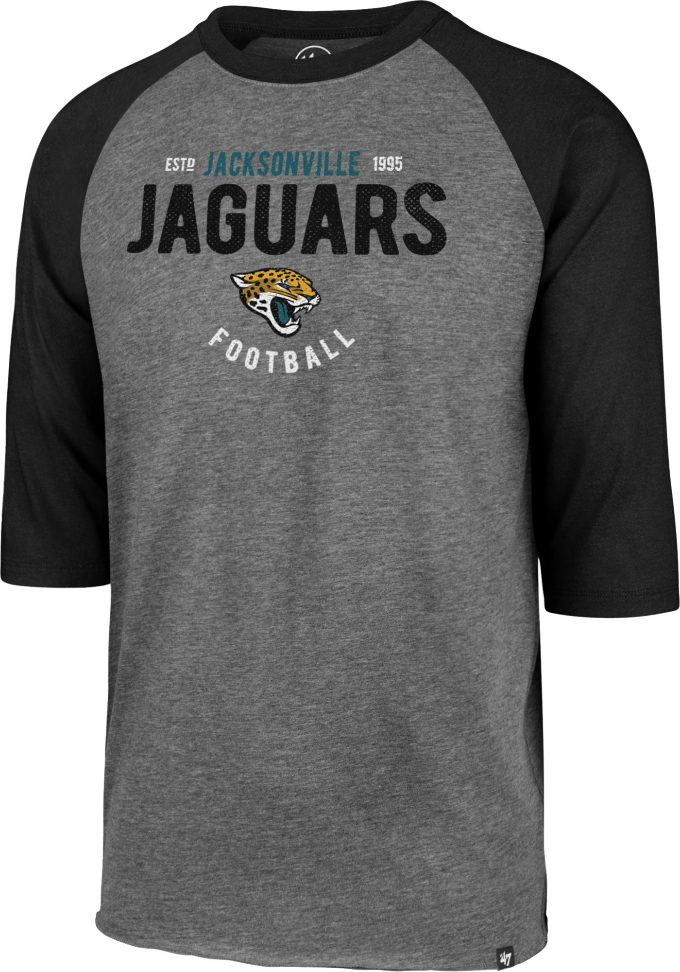 '47 Men's Jacksonville Jaguars Club Grey Raglan Shirt