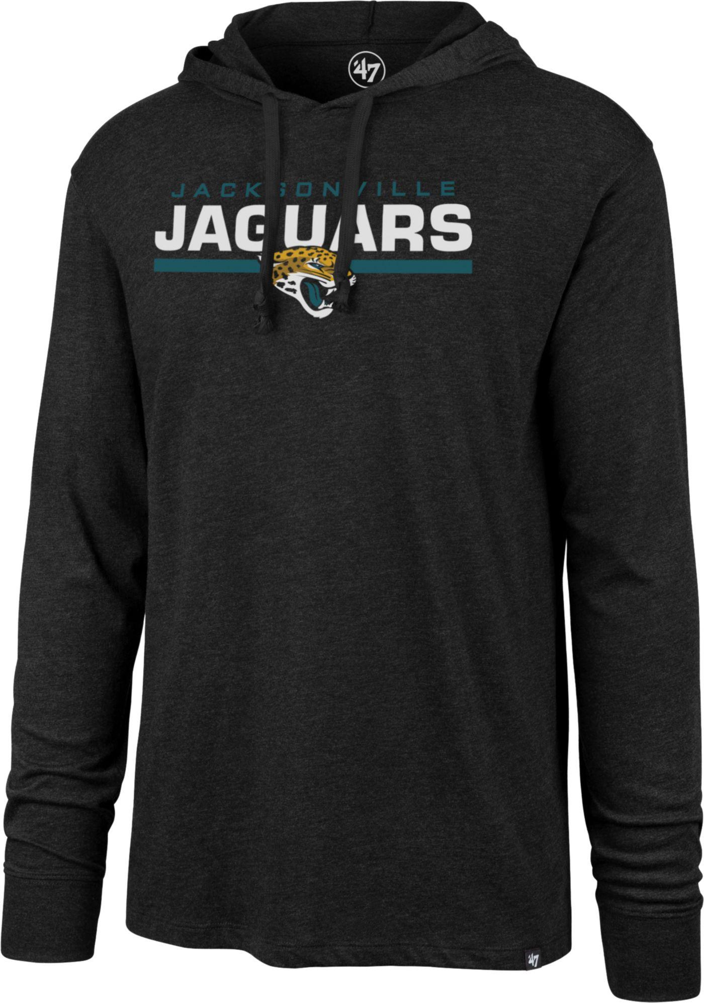 '47 Men's Jacksonville Jaguars Club Black Hooded Long Sleeve Shirt