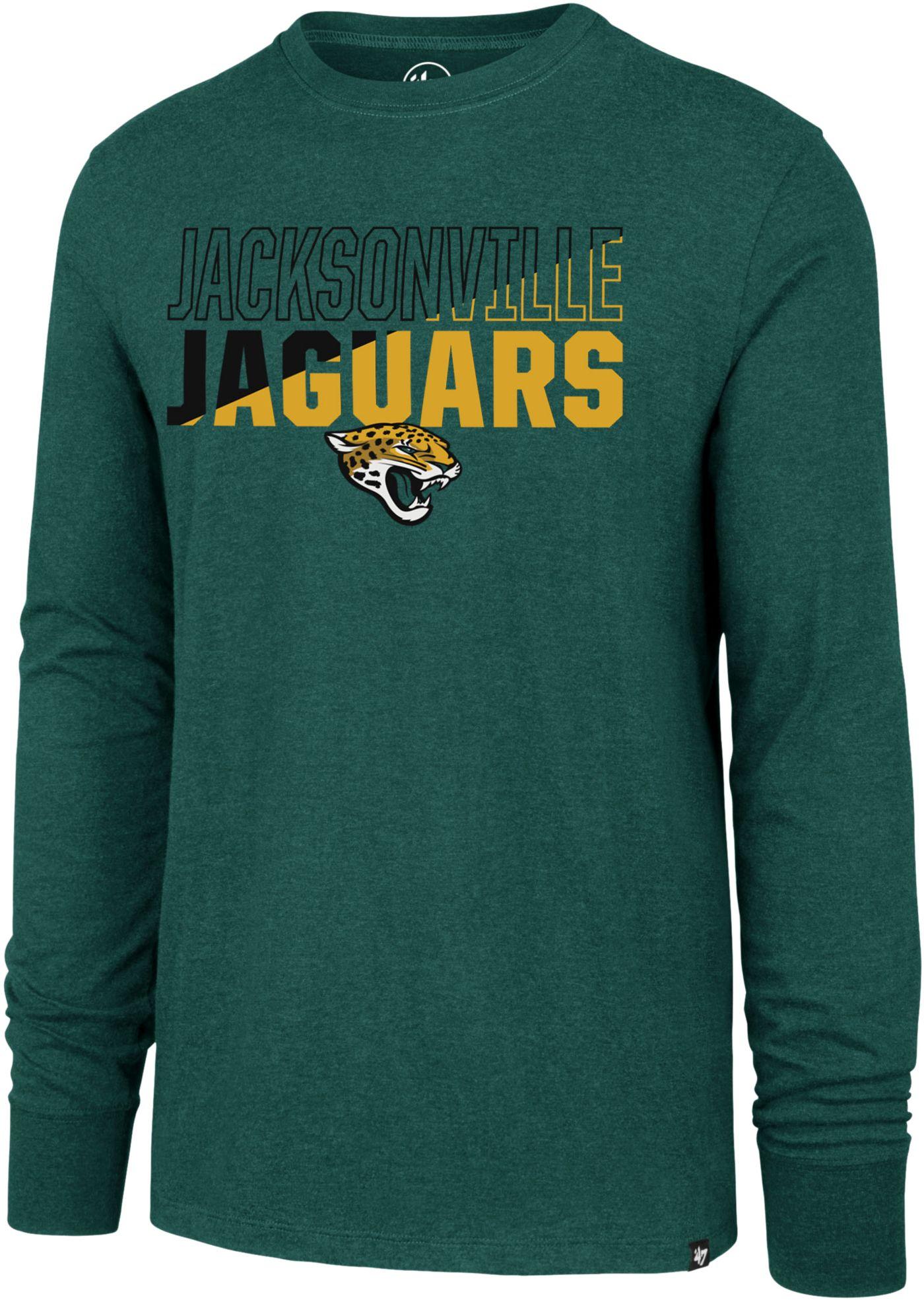 '47 Men's Jacksonville Jaguars Club Long Sleeve Teal Shirt