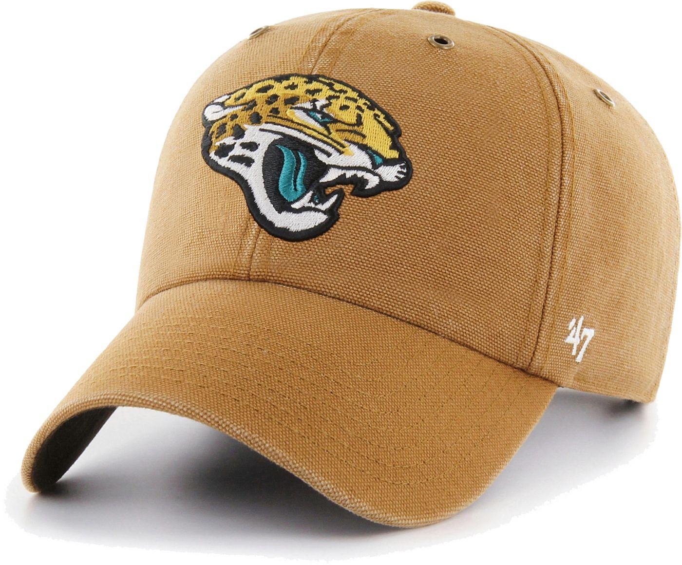 '47 Men's Jacksonville Jaguars Carhartt Clean Up Adjustable Brown Hat