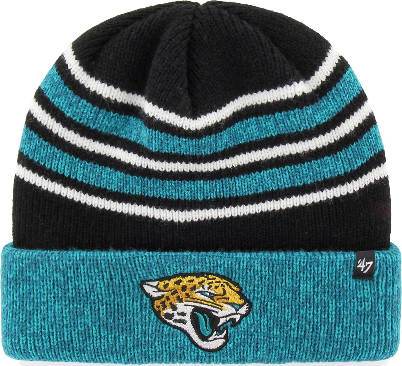 '47 Men's Jacksonville Jaguars Rotation Black Cuffed Knit
