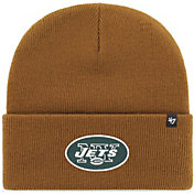 '47 Men's New York Jets Carhartt Brown Knit Hat