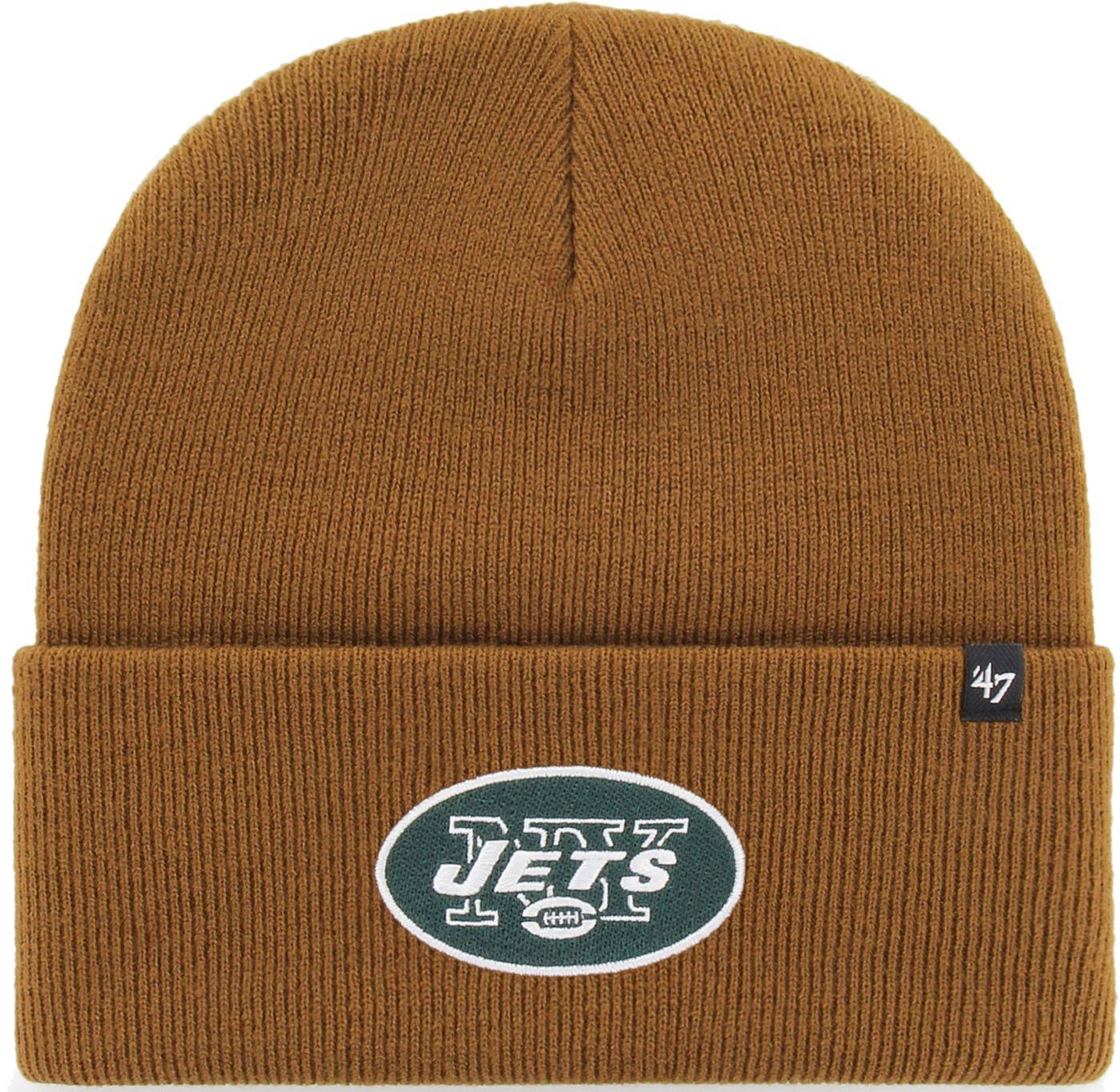 '47 Men's New York Jets Carhartt Brown Knit Hat