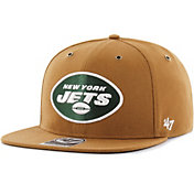 '47 Men's New York Jets Carhartt Captain Adjustable Brown Hat
