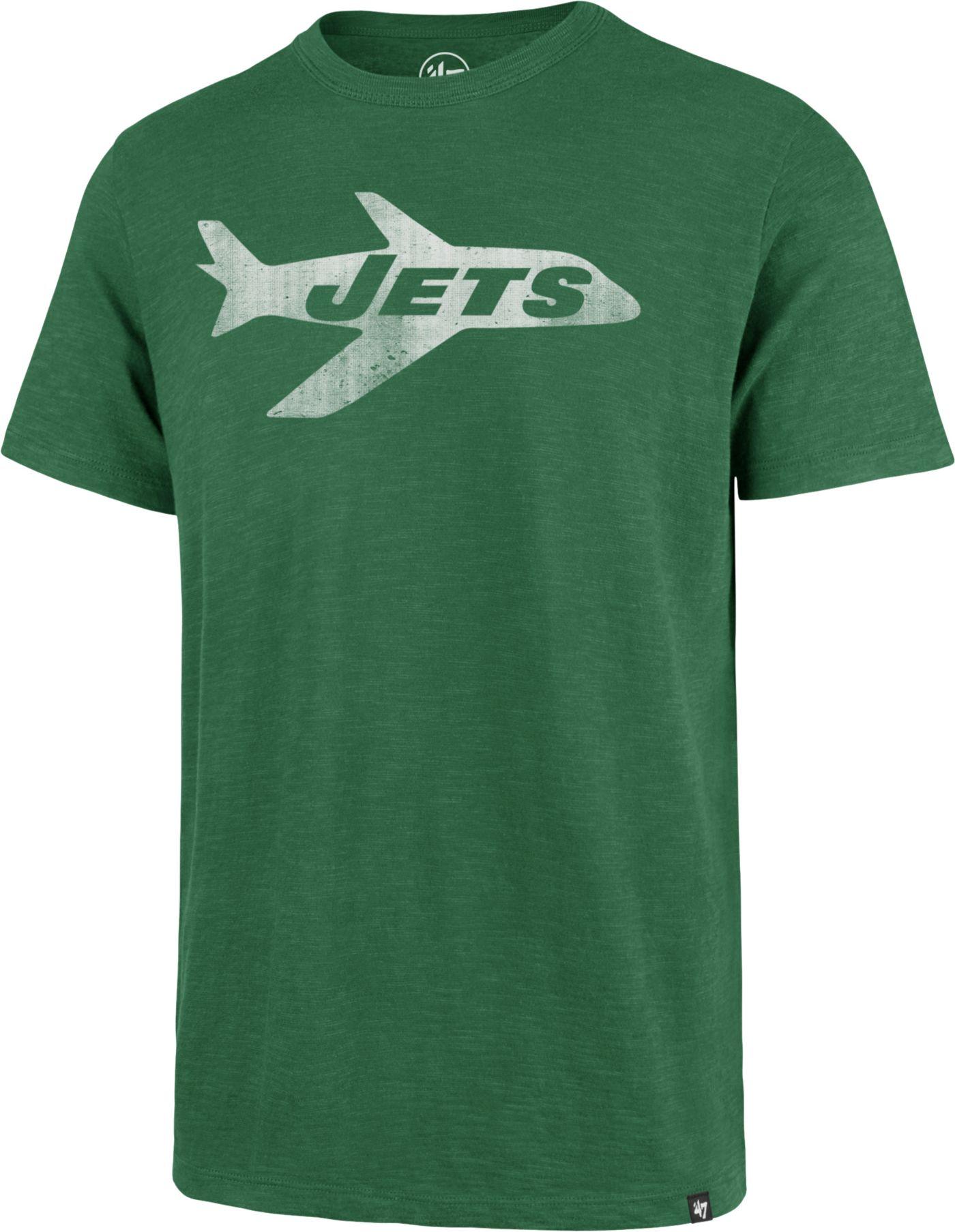 '47 Men's New York Jets Scrum Logo Legacy Green T-Shirt