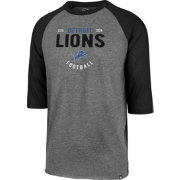 '47 Men's Detroit Lions Club Grey Raglan Shirt