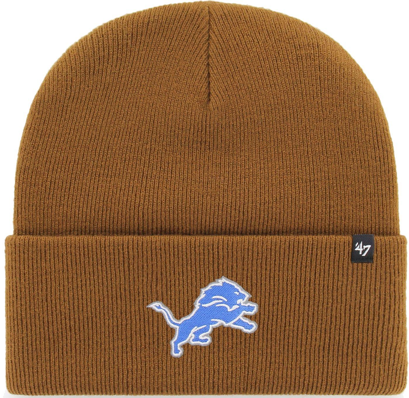 '47 Men's Detroit Lions Carhartt Brown Knit Hat