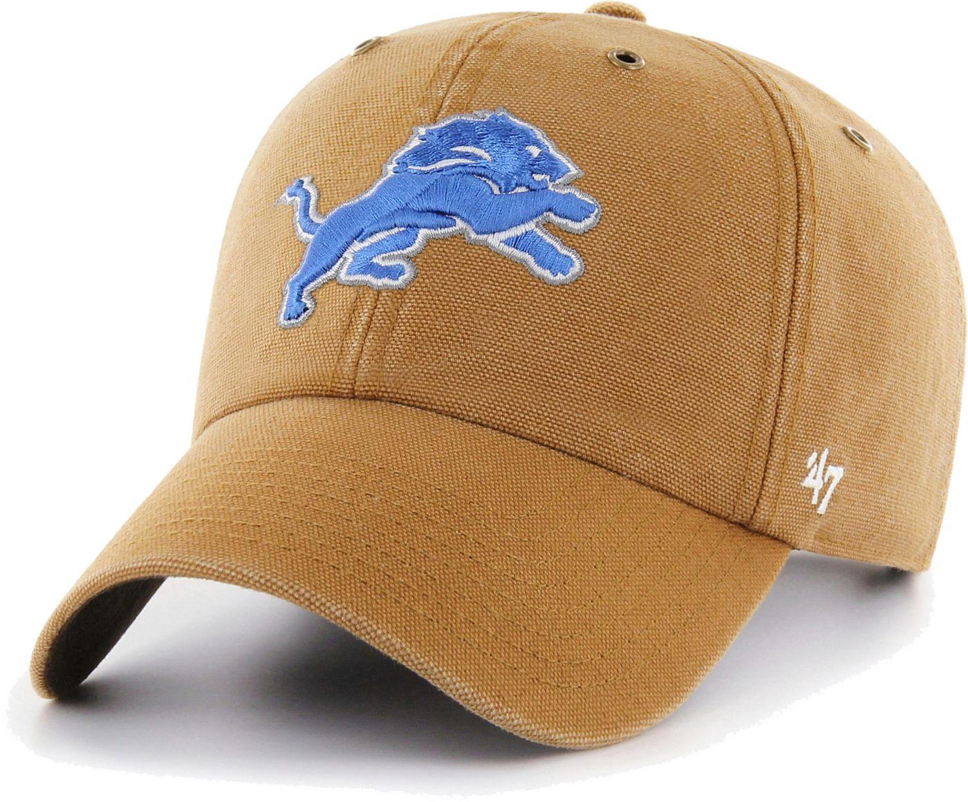 '47 Men's Detroit Lions Carhartt Clean Up Adjustable Brown Hat