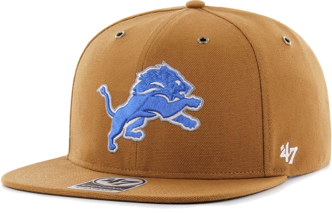 '47 Men's Detroit Lions Carhartt Captain Adjustable Brown Hat