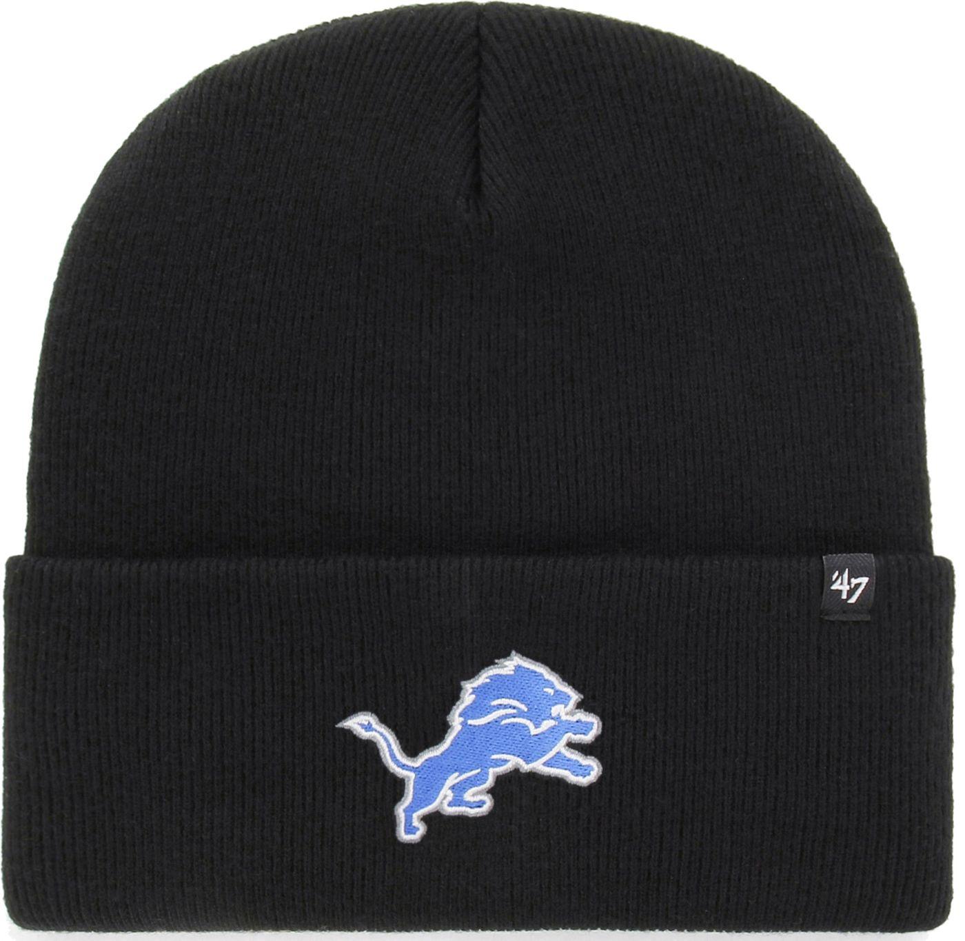 '47 Men's Detroit Lions Carhartt Black Knit Hat
