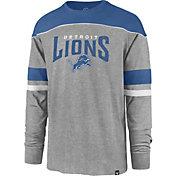 '47 Men's Detroit Lions Win Streak Grey Long Sleeve Shirt
