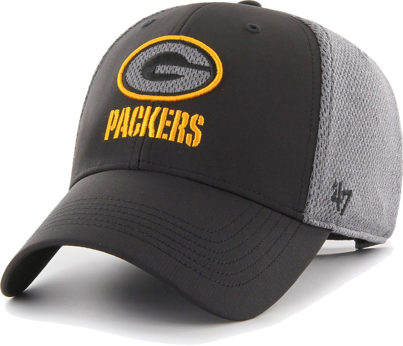 '47 Men's Green Bay Packers Arlo MVP Adjustable Black Hat